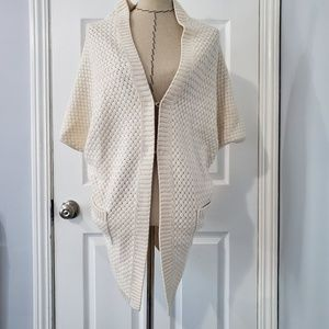 Alice + Olivia Cream Knitted Shrug